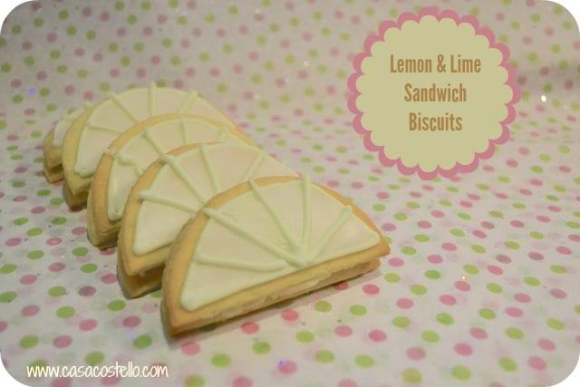 lemon lime sandwich cream biscuits