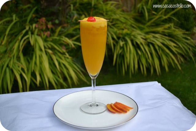 Non-Alcoholic Peach/Mango Bellini Cocktail