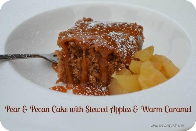 pear caramel pecan cake