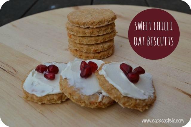 sweet chilli oat crackers