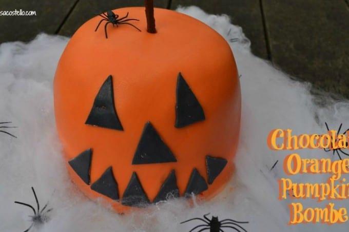 chocolate orange pumpkin bombe halloween