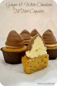 Ginger & White Chocolate Hi Hat Cupcakes