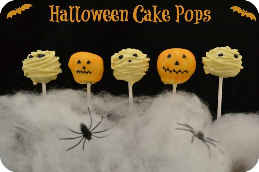 pumpkin mummy cake pops