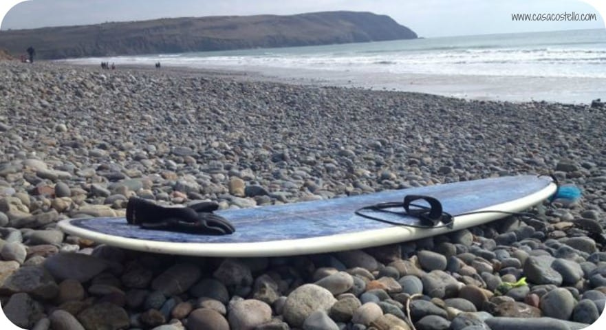 surf board beach wales