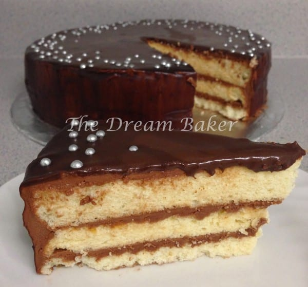 chocolate nutella frosting mint ganache chiffon cake