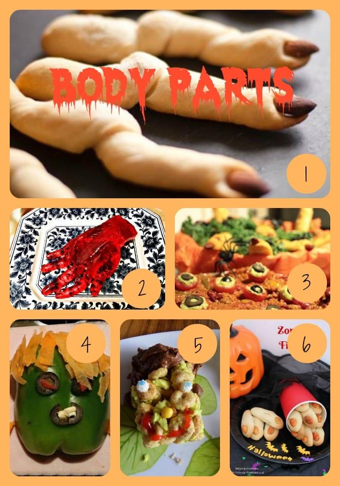 halloween body parts ideas