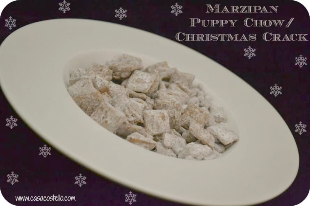 Marzipan Puppy Chow/Christmas Crack Recipe – Foodie Friday