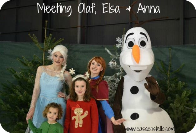 meeting olaf, elsa & anna frozen