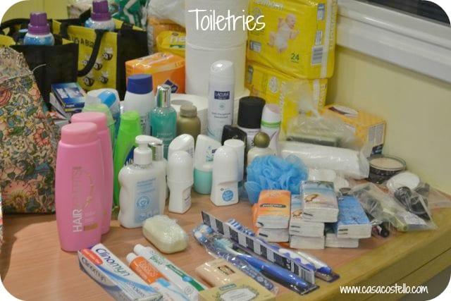 toiletries food bank
