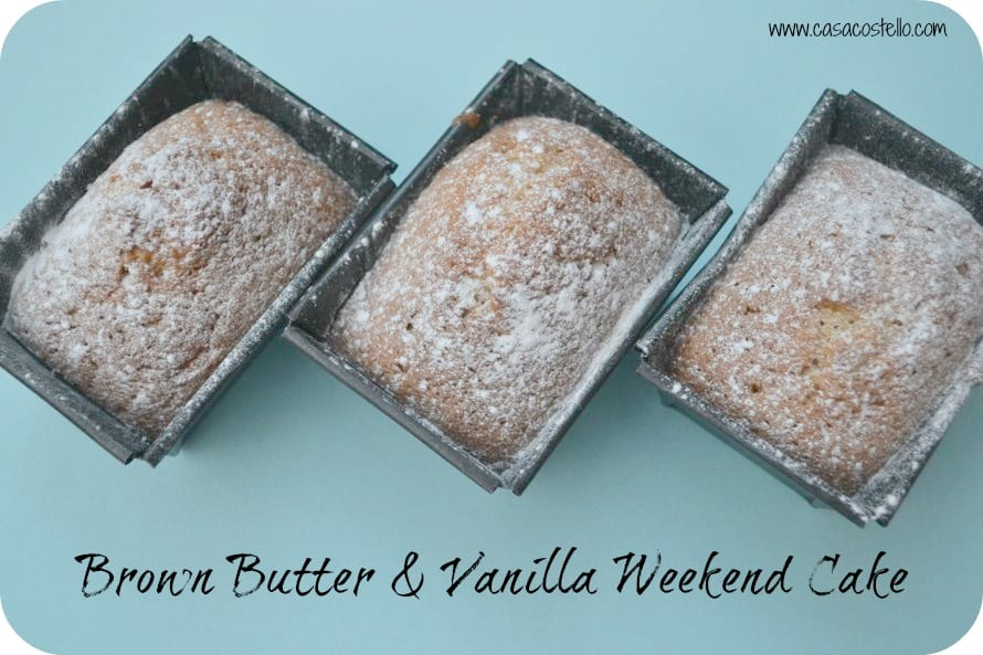 brown butter vanilla mini loaves