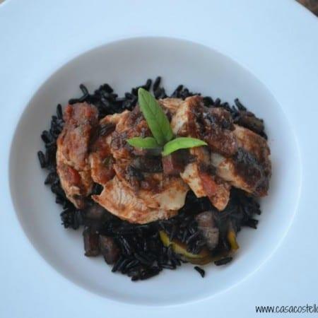 italian basil chicken with black rice