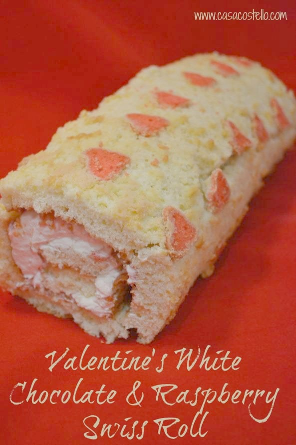 Valentine's White Chocolate & Raspberry Swiss Roll