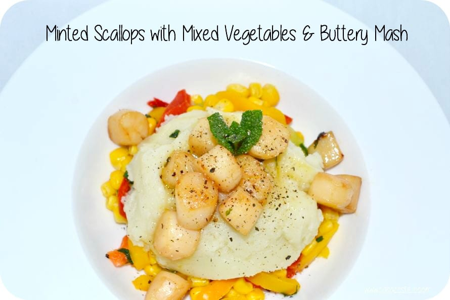 minted scallops mixed vegetables frozen
