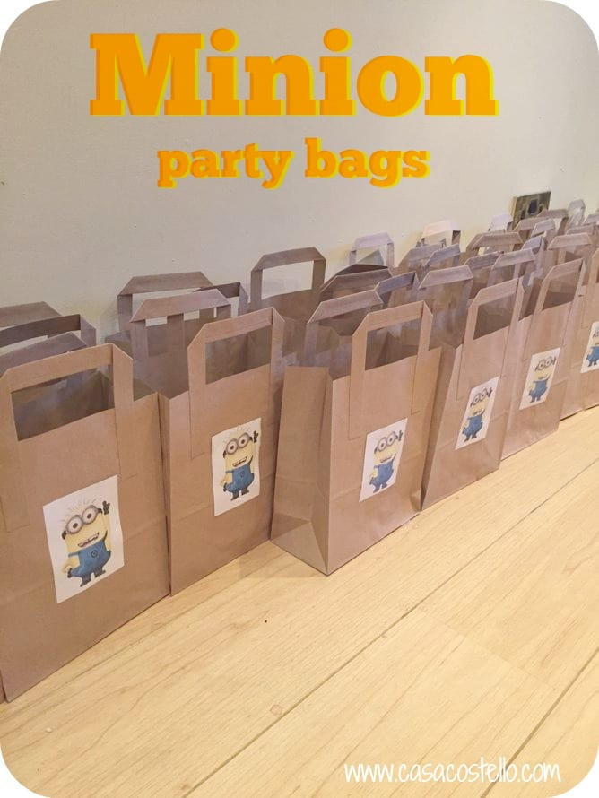 homemade minion party bags