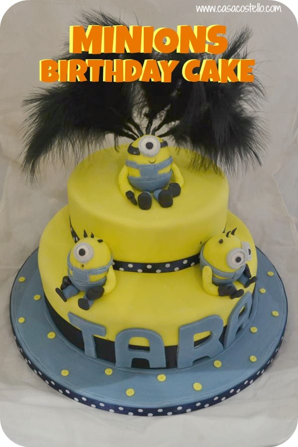 Remarkable Minion Birthday Cake Party Bake Of The Week Casa Costello Funny Birthday Cards Online Inifofree Goldxyz