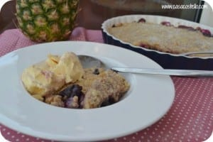 Cherry & Pineapple Crunch Crumble