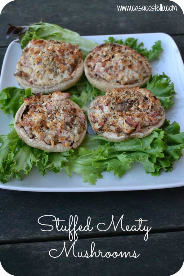 stuffed meaty mushrooms