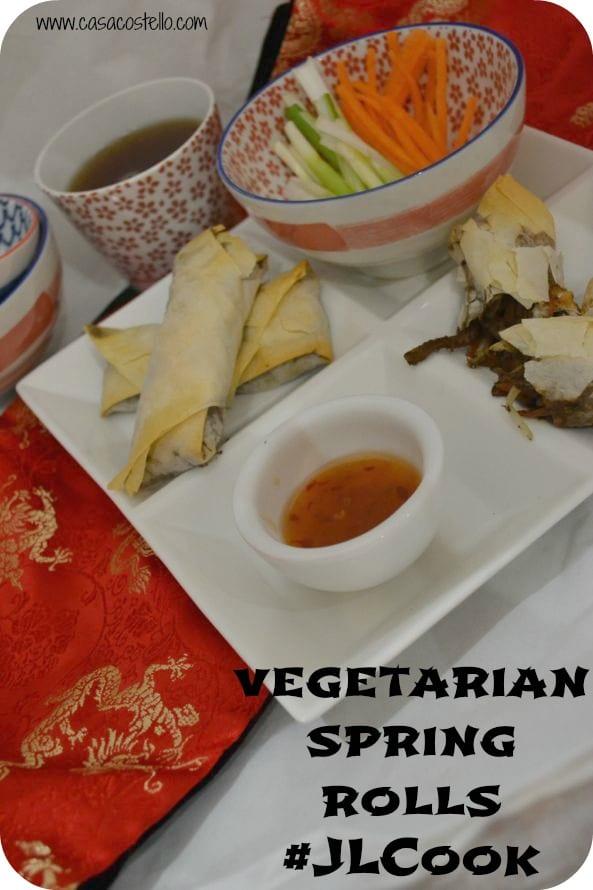 vegetarian spring rolls main
