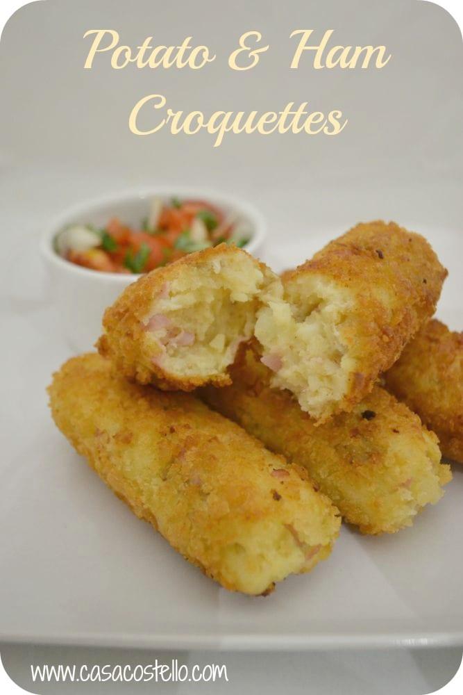 potato ham croquettes salad