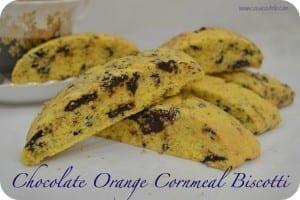 Chocolate Orange Cornmeal Biscotti