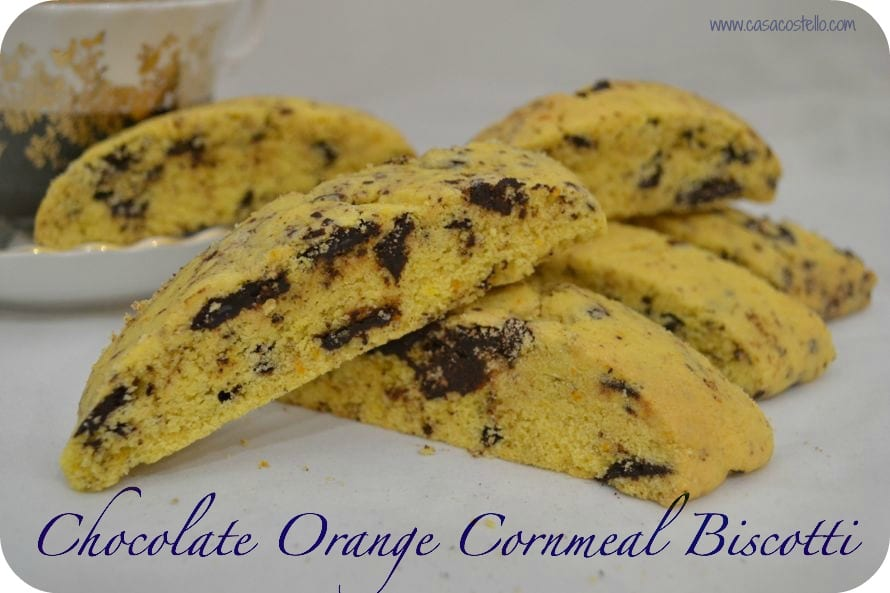 chocolate orange cornmeal biscotti