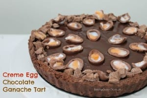 creme egg chocolate tart