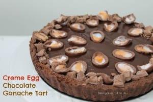 creme egg chocolate tart