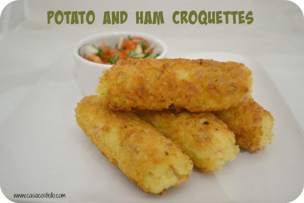 potato ham croquettes