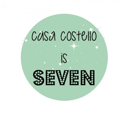 7 years of blog posts – Happy Anniversary Casa Costello!