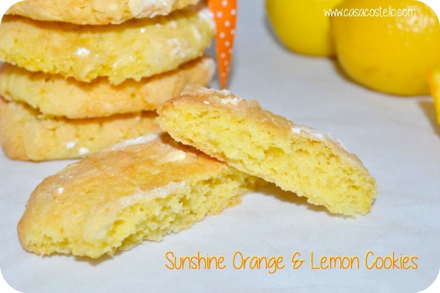 sunshine orange lemon cookies