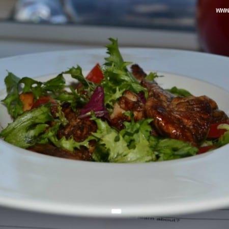 Hot Balsamic Honey Chicken Salad