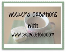 #Weekend Creations Linky Food & Crafts - No Theme