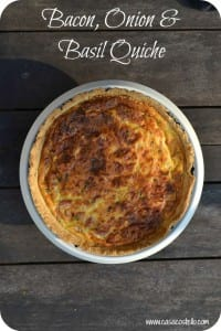 Bacon, Onion & Basil Quiche