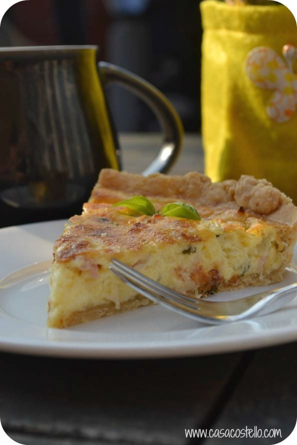 basil bacon onion quiche