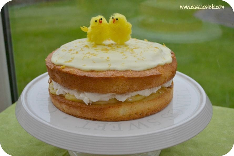 lemon almond easter cake