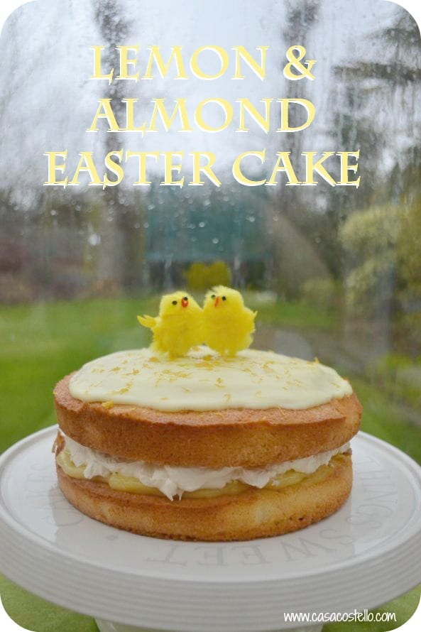 Lemon Almond Easter Sponge Cake