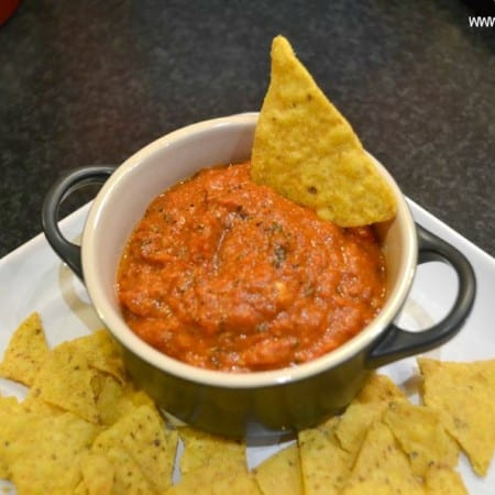 Roasted Red Pepper Walnut Relish Dip