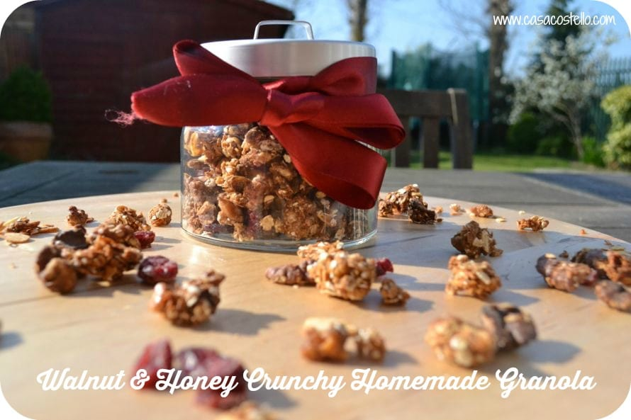 Walnut Honey Cranberries Crunchy Homemade Granola