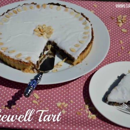 Cherry Bakewell Tart #Bakeoftheweek
