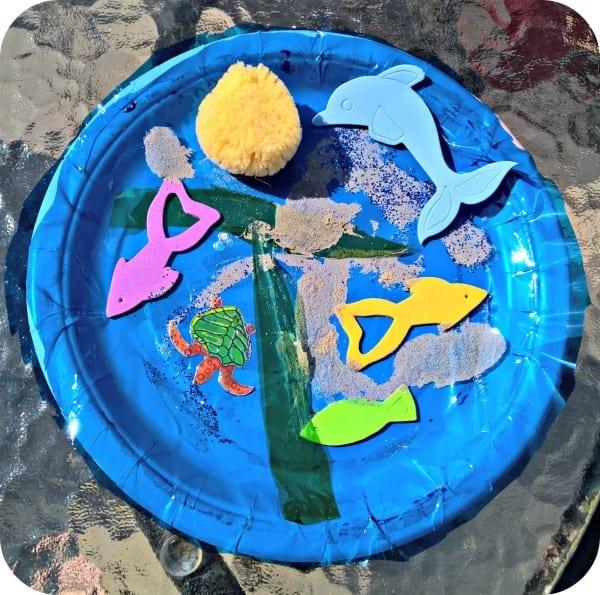 Paper Plate Rock Pool