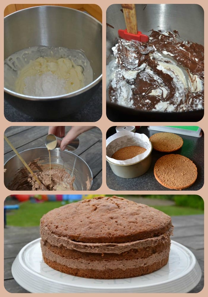 Making a Chococcino Cake