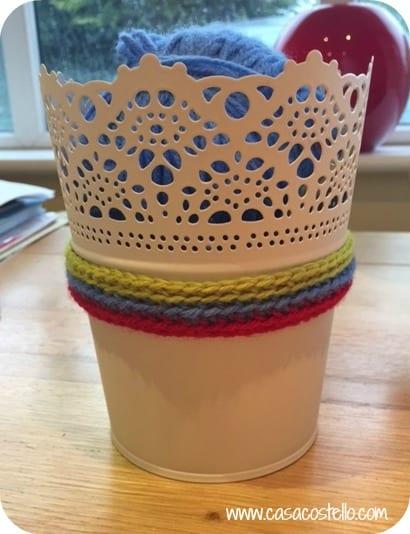 crochet herb pot