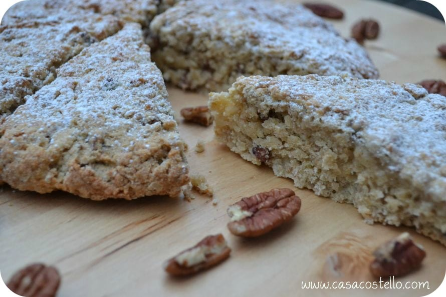 Glazed Maple Oat Pecan Scones