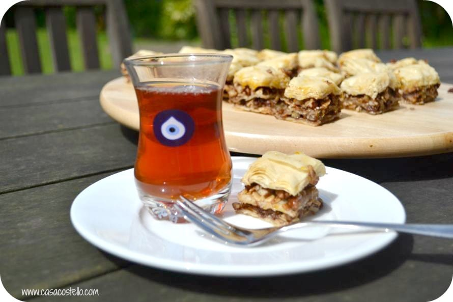 Turkish Tea & Baklava
