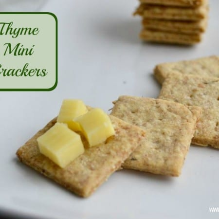 Thyme Mini Crackers #Bakeoftheweek