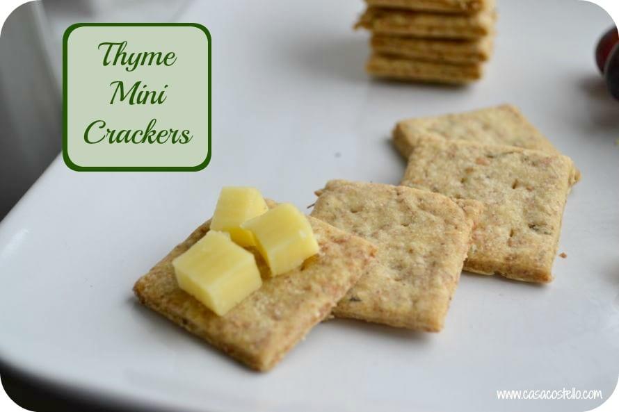 Thyme Mini Crackers