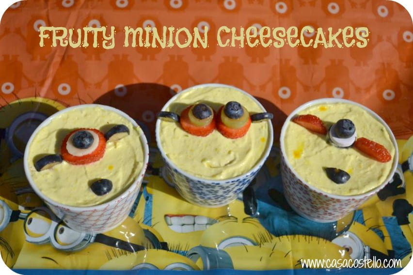 Fruity Minion Cheesecakes