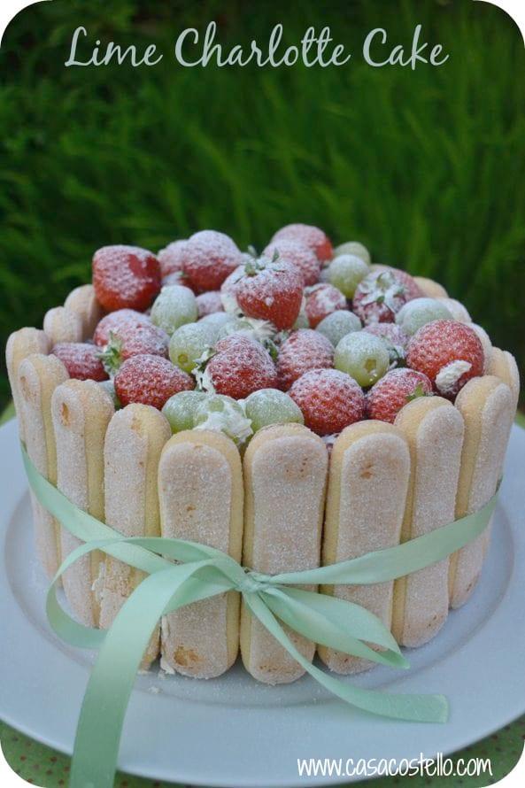 Lime Charlotte Cake