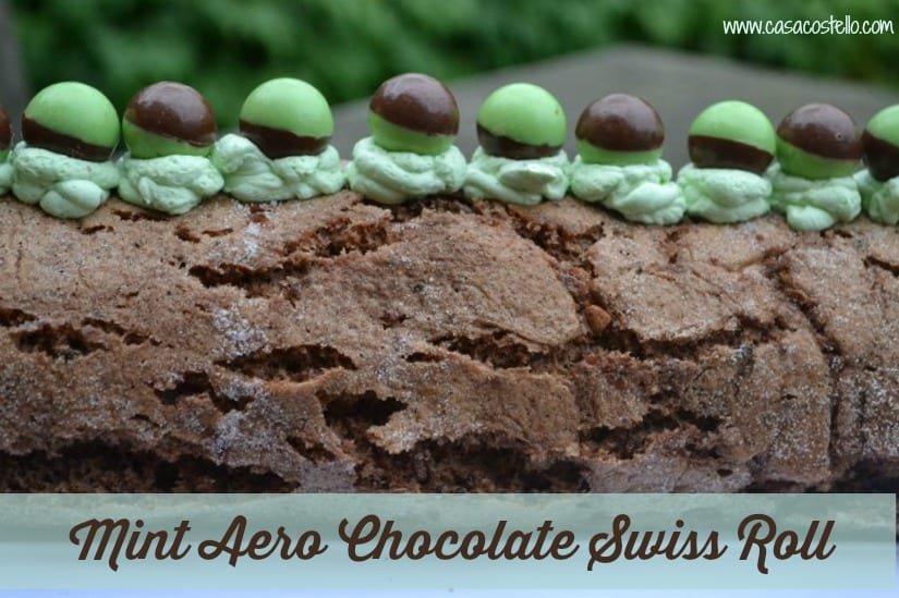 Mint Aero Swiss Roll #Bakeoftheweek
