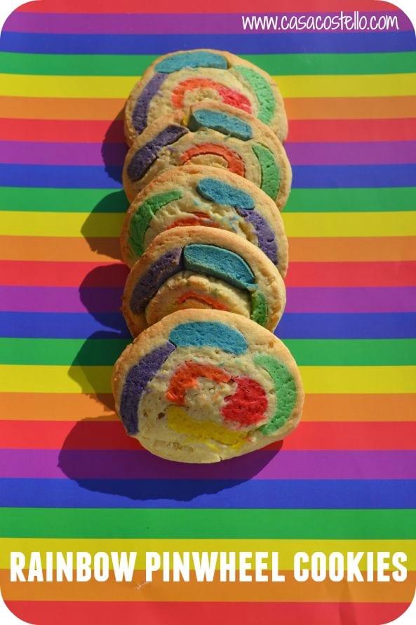 Rainbow Pinwheel Cookies - Casa Costello